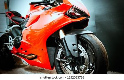 presentation of red superbike