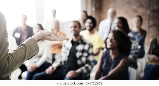 Presentation Seminar Group Listening Audience Concept