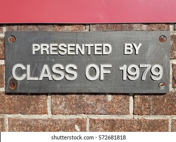 presented by class of 1979 sign