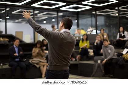 Presenter Presenting. Business Presentation