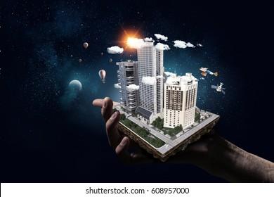 Presenting construction development project