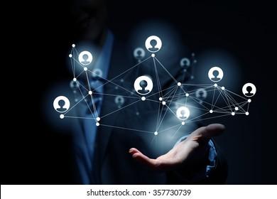 Presenting social net concept