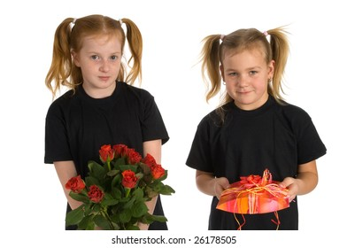 Presents by two little girls