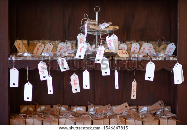 Presents Wedding Spanish Names On Them Stock Image Download Now