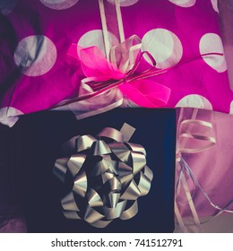 Presents Wrapped With Pretty Paper and Bows