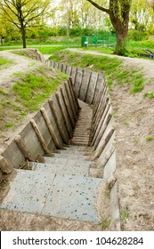 Preserved first world war trenches in Holland, Europe