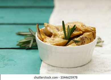 Preserved grill artichokes in oil with spices and herbs