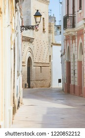 Presicce, Apulia, Italy - Mediterranean facades in the old town of Presicce