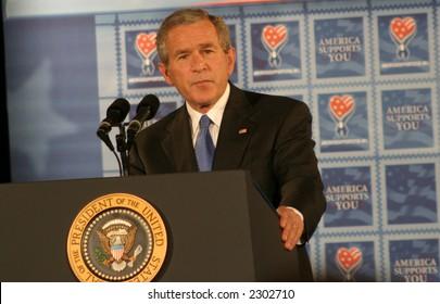President Bush Giving a Speech