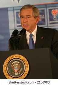 President Bush at a Speech