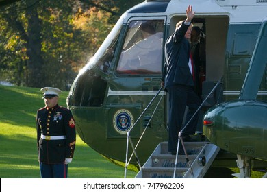 President Donald Trump departs the White House for an 11-day, 5-nation trip to Asia, Friday, November 3, 2017.