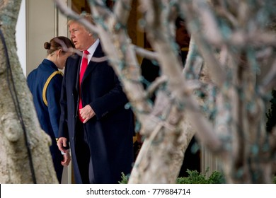 President Donald Trump departs the White House for Palm Beach, FL where he will be spending the Christmas holiday, Friday, December 22, 2017.