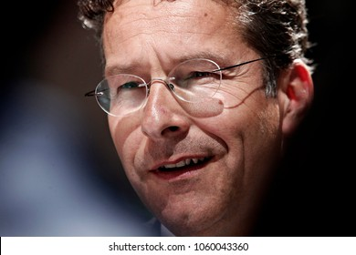 President of the Eurogroup, Jeroen Dijsselbloem arrives to attend in an Eurogroup finance ministers meeting at the European Council in Brussels, Belgium on May. 9, 2016.