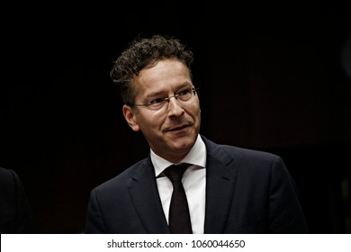 President of the Eurogroup, Jeroen Dijsselbloem attends in Eurogroup finance ministers meeting at the European Council in Brussels, Belgium on July 10, 2017.