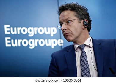 President of the Eurogroup, Jeroen Dijsselbloem gives a press conference in the results of Eurogroup finance ministers meeting at the European Council in Brussels, Belgium on Mar. 20, 2017.