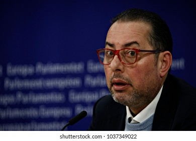 President of the European Socialists and Democrats Gianni Pittella, of Italy, gestures during a press briefing at the European Parliament in Brussels, Belgium on Jan. 31, 2018.