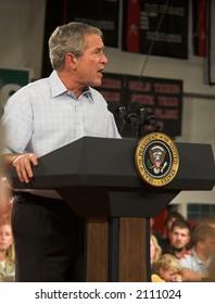 President George W. Bush at a rally in Iowa - November 3, 2006
