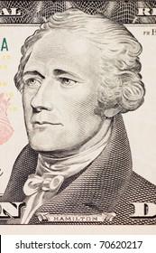 president hamilton face on the ten dollar bill