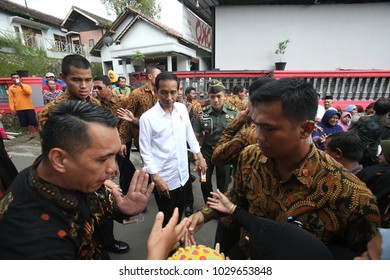 President of Indonesia Joko Widodo Visitting Tumang Village,Boyolali Central Java,7 July 2017