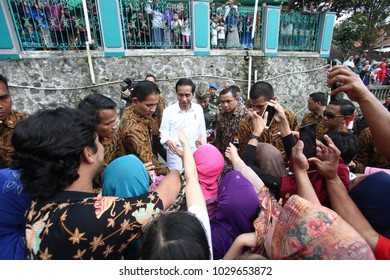 President of Indonesia Joko Widodo Visitting Tumang Village,Boyolali Central Java,7 July 2017