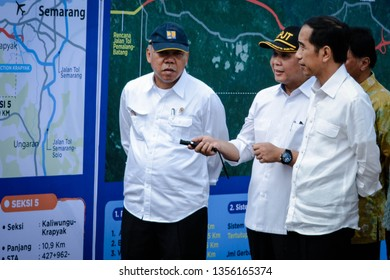 President Jokowi on the ground breaking of the Pemalang-Batang and Batang-Semarang Toll Road in Batang Regency, June 17, 2016.
