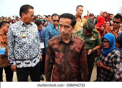 president of the republic of Indonesia Jokowi accompanied by central Sulawesi governor Longki Djanggola attended Sail Tomini festival in Parigi Moutong on 20 September 2015