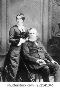 President Rutherford B. Hayes with First Lady Lucy Ware Webb Hayes, ca. 1880