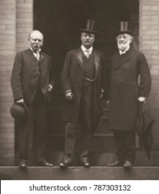 President Theodore Roosevelt, John Heyl Vincent, and Jacob Riis at Chautauqua NY, Aug. 11 1905. Vincent was a 1874 co-founder of the Chautauqua Assembly, non-profit education center and summer resort.