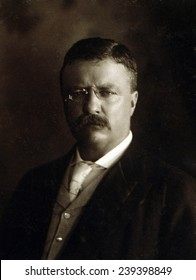 President Theodore Roosevelt, shortly after his rise to the presidency in a 1902.