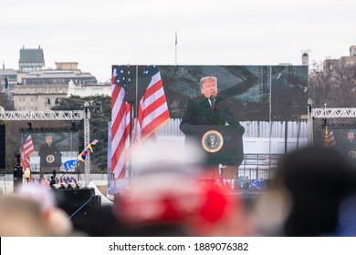 President Trump was making a speech at the Eclipse on January 6th in 2021 in Washington DC, USA.