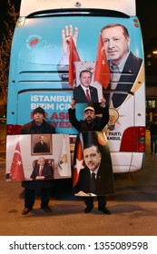 President of Turkey Recep Tayyip Erdogan's supporters,  31March 2019 istanbul at Turkey