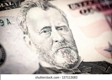 President Ulysses S. Grant from fifty dollar bill.