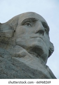 President Washington's Face at Mt. Rushmore