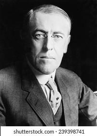 President Woodrow Wilson (1856-1924) in 1916 portrait.