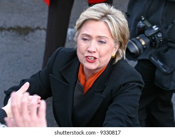 presidential candidate Hillary Clinton at a rally in Spokane washington