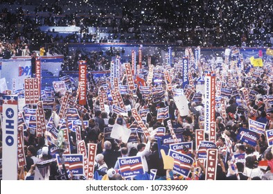 Presidential celebration at the 1992 Democratic National Convention at Madison Square Garden