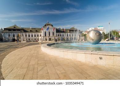The presidential Grassalkovich Palace of Slovakia in Bratislava.