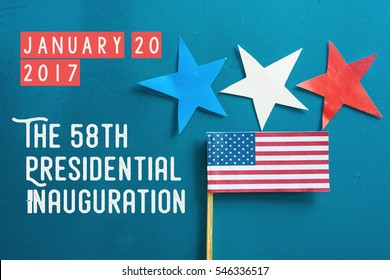 Presidential Inauguration Day  On January 20, 2017. Americans celebrate the newly elected US President background