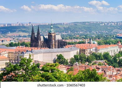 Presidential palace of Czech Republic , St. Vitus cathedral in city Prague