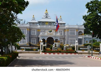 Presidential Palace Laos it is located on the banks of Mekong River in the capital city.Vientiane.,Laos