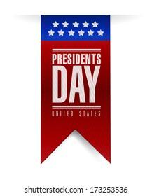 presidents day banner illustration design over a white background