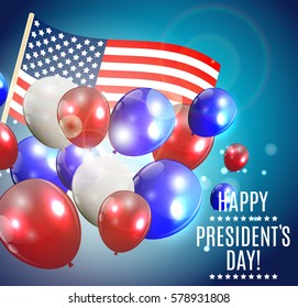 Presidents Day in USA Background. Can Be Used as Banner or Poster.  Illustration