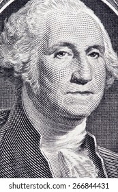 The president's face with a dollar bill