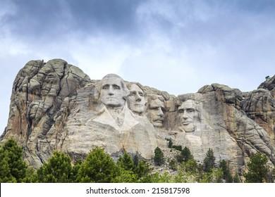 Presidents of Mount Rushmore National Monument, South Dakota, USA