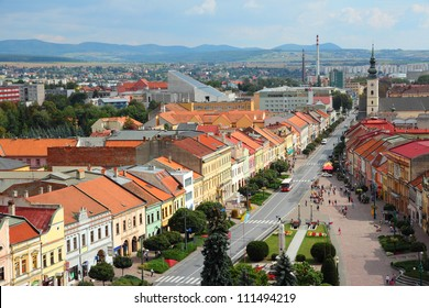 Presov, Slovakia - aerial view of the old town