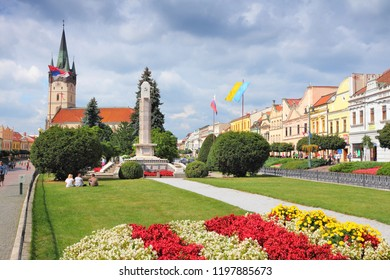 PRESOV, SLOVAKIA - AUGUST 27, 2012: People visit Old Town in Presov, Slovakia. It is the 3rd largest city of Slovakia with 97,000 inhabitants.