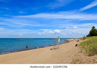 Presque Isle State Park Beach in Erie Pennsylvania