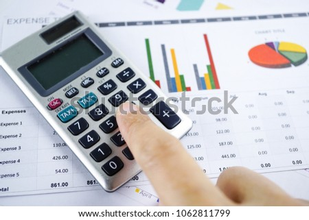 Press Calculator On Chart Graph Paper Stock Photo Edit Now