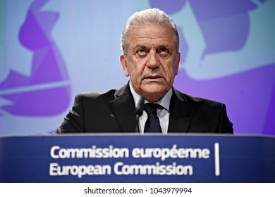 Press conference by Dimitris Avramopoulos, Member of the European Commission in charge of Migration, Home Affairs and Citizenship in Brussels, Belgium on March 2, 2017.