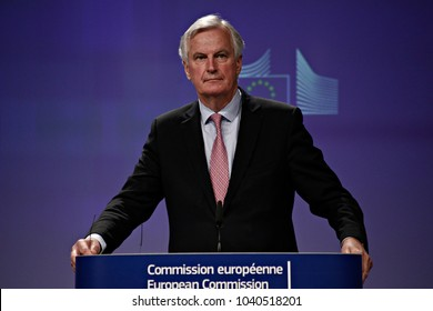 Press conference by European Chief Negotiator for the United Kingdom Exiting the European Union Michel Barnier in Brussels, Belgium in Brussels, Belgium on May 3, 2017